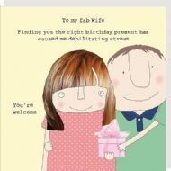 Rosie Made a Thing 'Fab Wife' Birthday Card